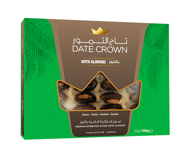 KHALAS DATES W/ALMOND 250 G