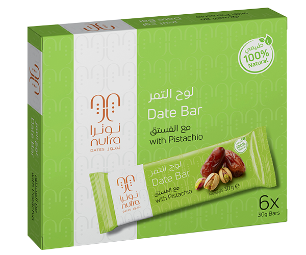 DATE BAR WITH PISTACHIO (6 x 30 G)