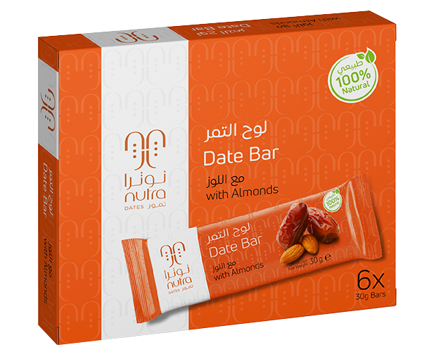 DATE BAR WITH ALMONDS (6 x 30 G)