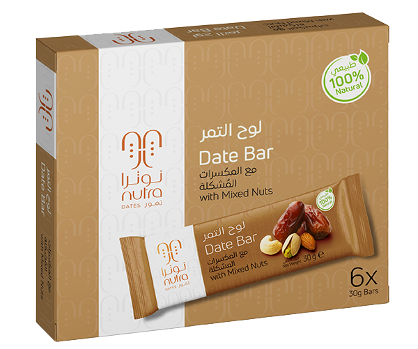 DATE BAR WITH MIXED NUTS (6 x 30 G)